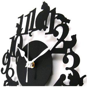 掛時計 ネコ